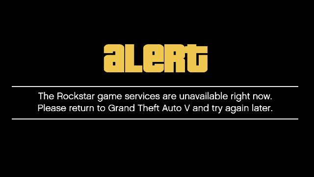 GTA Online Rockstar game services are unavailable right now error